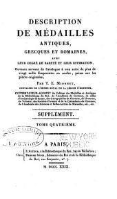 Description de medailles antiques, etc: Supplement, Volume4