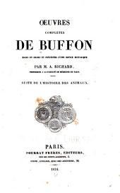 Oeuvres complètes de Buffon: Des animaux