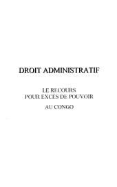 LE RECOURS POUR EXCES DE POUVOIR AU CONGO