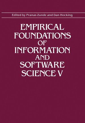 Empirical Foundations of Information and Software Science V PDF