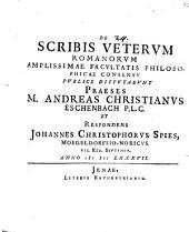 De scribis veterum Romanorum