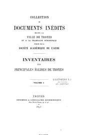 Inventaire des principales églises de Troyes