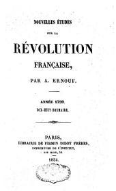 Nouvelles études sur la révolution française: années 1798 et 1799, Volume2