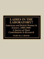 Ladies in the Laboratory  American and British Women in Science  1800 1900 PDF