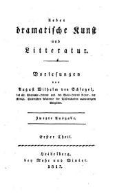 Über dramatische Kunst und Litteratur