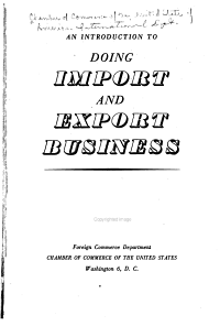 An Introduction to Doing Import and Export Business PDF
