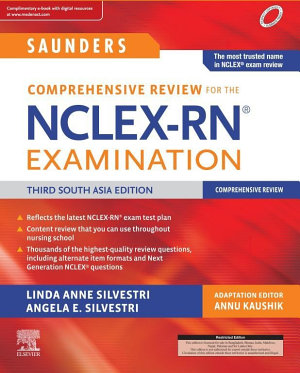 Saunders Comprehensive Review for the NCLEX RN Examination  Third South Asian Edition E book
