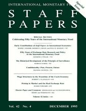 IMF Staff papers: Volume 42, Issue 4