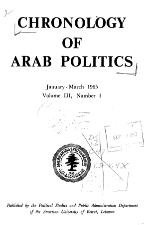 Chronology of Arab Politics PDF