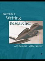 Becoming a Writing Researcher PDF