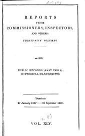 Parliamentary Papers, House of Commons and Command: Volume 45