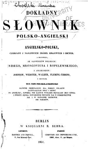 A Complete Dictionary English and Polish and Polish and English  Polish English