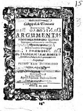 Collegii S.S. Trinitatis Disputatio ...: De Argumentis Photinianorum ...
