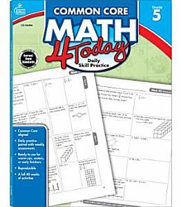 Common Core Math 4 Today  Grade 5 PDF