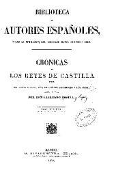 Crónicas de los reyes de Castilla: Volumen 3