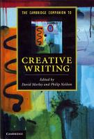 The Cambridge Companion to Creative Writing PDF