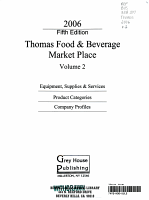 Thomas Food   Beverage Market Place  2006 PDF