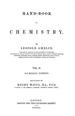 Hand-book of Chemistry: Inorganic chemistry