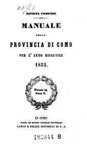 Almanacco Della Provincia Di Como: Volume 9