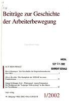 Beitr  ge zur Geschichte der Arbeiterbewegung PDF