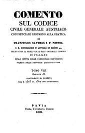 Comento sul codice civile generale austriaco con ispeciale riguardo alla pratica, recato dall'originale tedesco in italiano: Volume 2;Volume 8