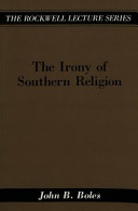 The Irony of Southern Religion PDF