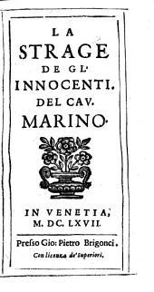 LA STRAGE DE GL' INNOCENTI. DEL CAV. MARINO