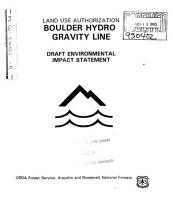 Arapaho National Forest  N F    Roosevelt National Forest  N F    Boulder Hydro Gravity Line  Land Use Authorization PDF