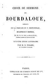Choix de sermons de Bourdaloue