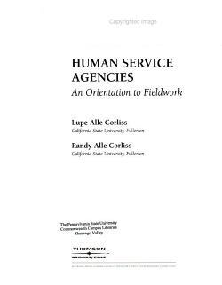 Human Service Agencies PDF