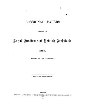 Sessional Papers Read at the Royal Institute of British Architects PDF
