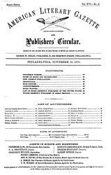 American Literary Gazette and Publishers  Circular PDF