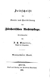 Zürcherische Zeitschrift für Gerichtspraxis und Rechtswissenschaft: Band 19