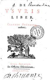 De Usuris liber, Claudio Salmasio auctore