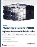 Microsoft Windows Server 2008 PDF
