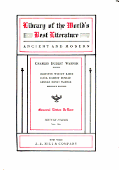 Library of the World's Best Literature, Ancient and Modern: Volume 40