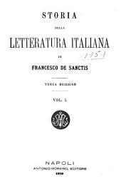 Storia della letteratura italiana: Volume 1