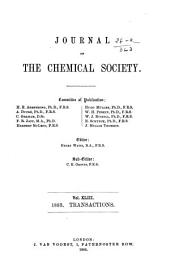 Journal - Chemical Society, London: Volume 43