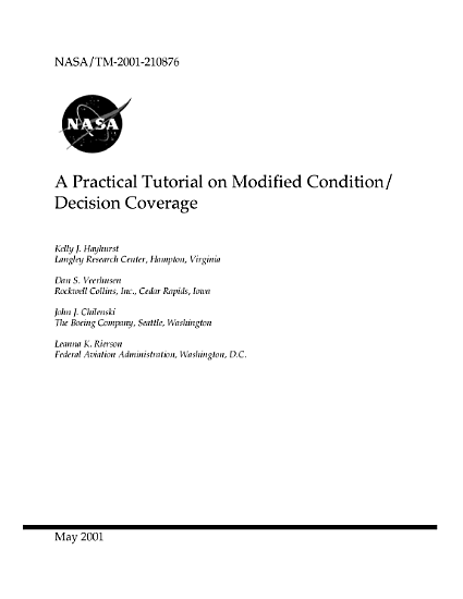 A practical tutorial on modified condition decision coverage PDF