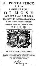 Il Pentateuco; o sia, i cinque libri di Mosè: secondo la Volgata, Volume 3