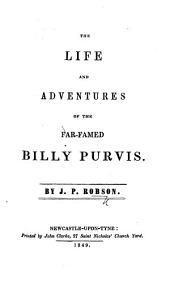 The Life and Adventures of the Far-famed Billy Purvis