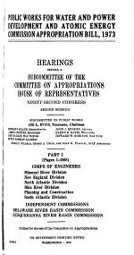 Public Works for Water and Power Development and Atomic Energy Commission Appropriation Bill, 1973