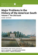 Major Problems in the History of the American South