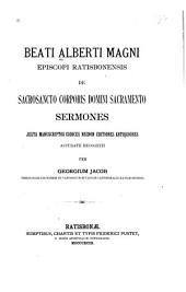 De sacrosancto corporis Domini sacramento sermones