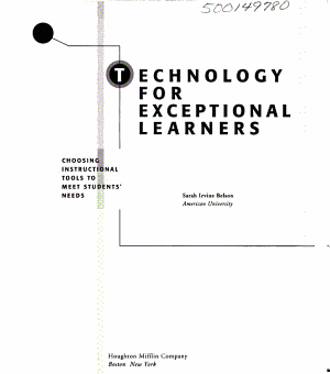 Technology for Exceptional Learners