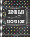 Chalkboard Brights Lesson Plan and Record Book Book