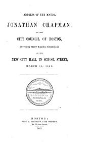 Inaugural Addresses of the Mayor of Boston: Volume 2
