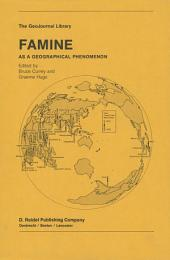 Famine: As a Geographical Phenomenon