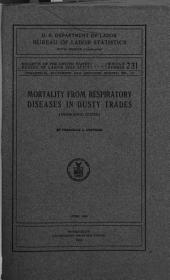 Mortality from Respiratory Diseases in Dusty Trades (inorganic Dusts).