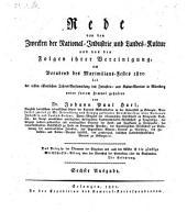 Rede von den Zwecken der National-Industrie und Landes-Cultur und von den Folgen ihrer Vereinigung. 6. Ausg